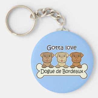 Three Dogue de Bordeaux Keychain