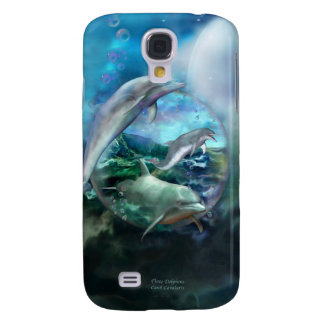 Three Dolphins Art Case for iPhone 3 Galaxy S4 Cover