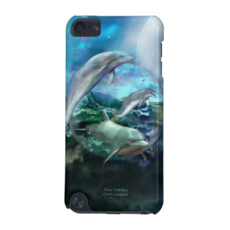 Three Dolphins Art Case for iPod iPod Touch (5th Generation) Cases