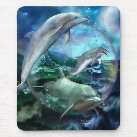 Three Dolphins Art Mousepad