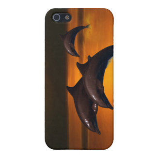 Three dolphins at sunset case for iPhone SE/5/5s