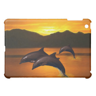 Three dolphins at sunset cover for the iPad mini