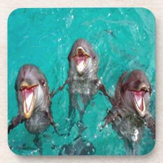 Three Dolphins in the ocean Coaster
