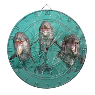 Three Dolphins in the ocean Dart Board