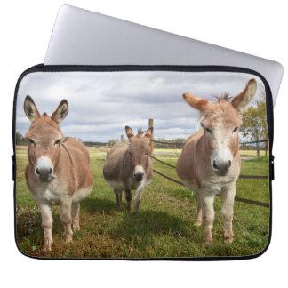 Three Donkey's Laptop Sleeve