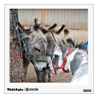 Three Donkeys In A Meeting Wall Sticker