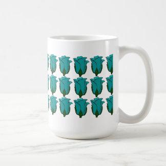 Three Dozen Blue Rose Bud Mug