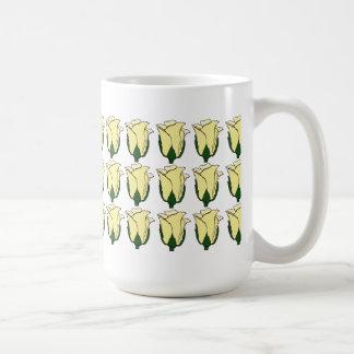 Three Dozen Light Yellow Rose Bud Mug