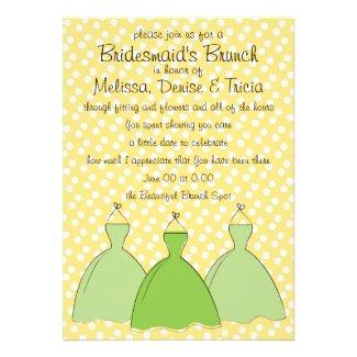 Three dress sketch personalized invite