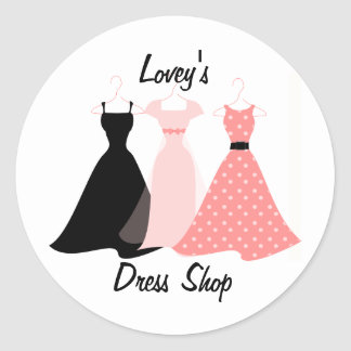 Three Dresses Classic Round Sticker
