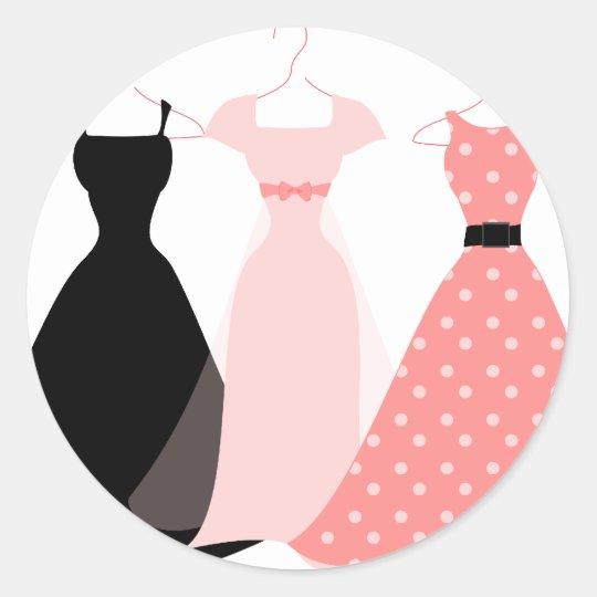 Three Dresses Classic Round Sticker