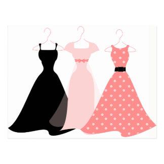 Three Dresses Postcard
