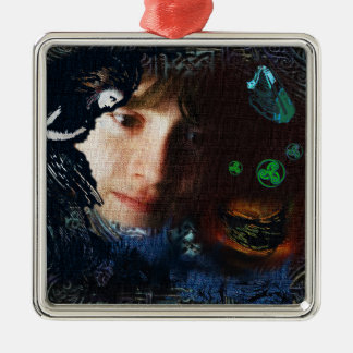 Three Drops for Gwion Bach Metal Ornament