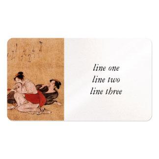 Three Drunken Women Asian Painting Business Card