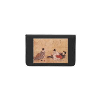 Three Drunken Women Asian Painting Business Card Holder