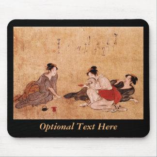 Three Drunken Women Asian Painting Mouse Pad