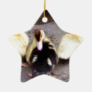 Three ducklings ceramic ornament