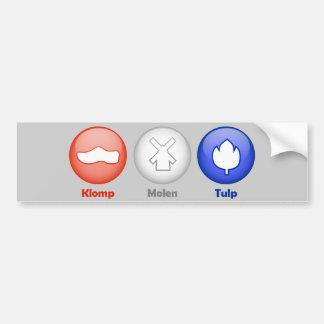 Three Dutch Icons Bumper Sticker
