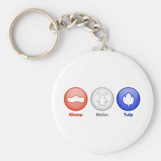 Three Dutch Icons Keychain