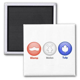 Three Dutch Icons Refrigerator Magnet