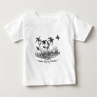 Three Dying Flowers Baby T-Shirt