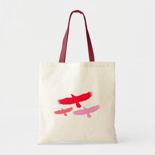 Three Eagles Flying (Red) Bags