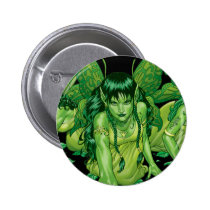 fairy, fairies, elves, spirtes, al rio, magical beings, illustration, drawing, Button with custom graphic design