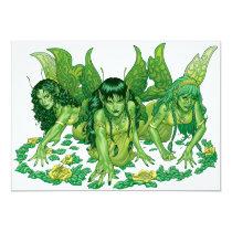 fairy, fairies, elves, spirtes, al rio, magical beings, illustration, drawing, Invitation with custom graphic design