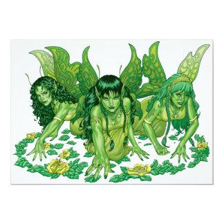 Three Earth Fairies Fantasy Art by Al Rio Card