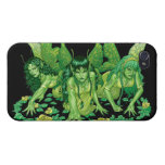 Three Earth Fairies Fantasy Art by Al Rio iPhone 4 Case