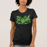 Three Earth Fairies Fantasy Art by Al Rio T-Shirt