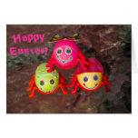 Three Easter Bug Eggs Card