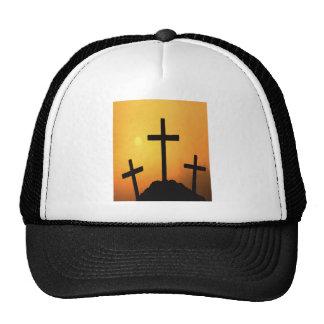 Three Easter Crosses At Sunset Trucker Hat