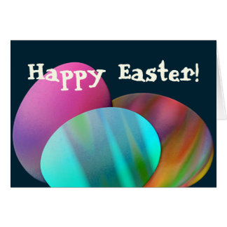 Three Easter Eggs Greeting Card