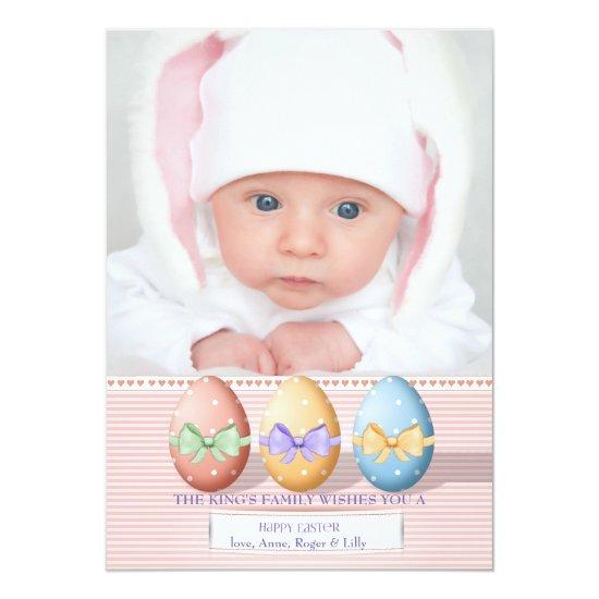 Three Easter Eggs Photo Card