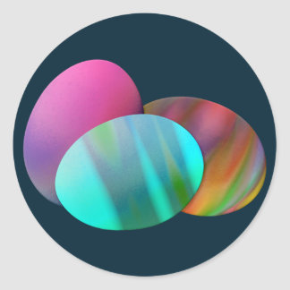 Three Easter Eggs Round Stickers