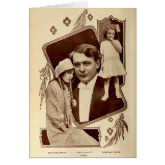 Three Edison Silent Film Stars Child Actor 1912 Card