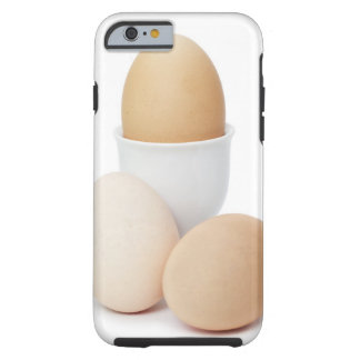 Three eggs isolated on a white background tough iPhone 6 case