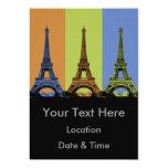 Three Eiffel Towers in Paris 5x7 Paper Invitation Card