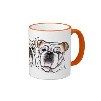 Three English Bulldogs Mugs