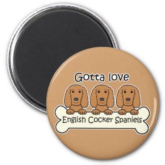 Three English Cocker Spaniels Magnet