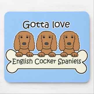 Three English Cocker Spaniels Mouse Pad