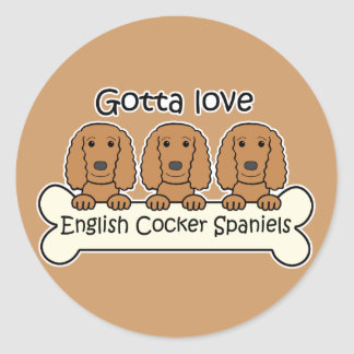 Three English Cocker Spaniels Sticker
