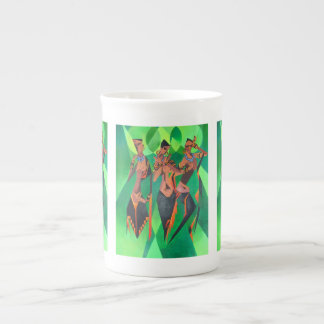 Three Ethnic Traditional Black Women Dancing Tea Cup