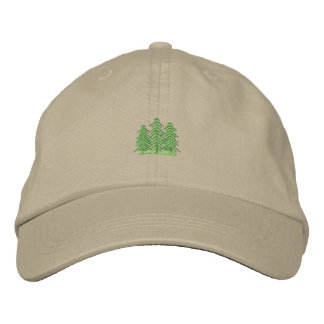 Three Evergreens Embroidered Baseball Cap