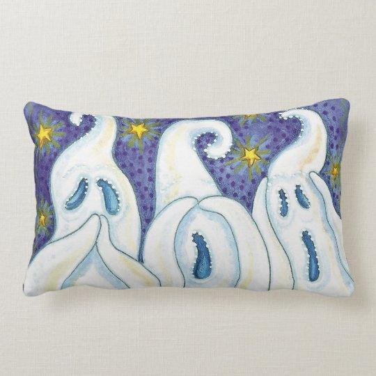 Three Evils Ghosts Lumbar Pillow