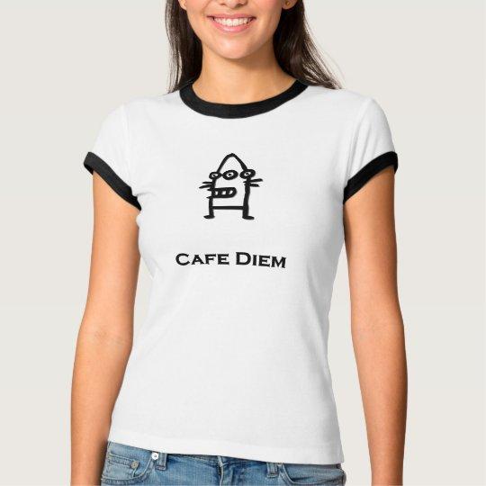 Three Eye Bot Cafe Diem black T-Shirt