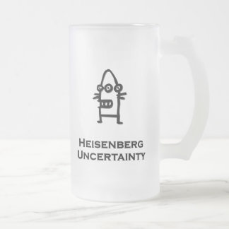 Three Eye Bot Heisenberg Uncertainty 16 Oz Frosted Glass Beer Mug
