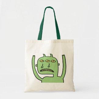 Three Eye Monster Budget Tote Bag