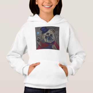 Three Eye Pug Dog Magic Show Art Print Hoodie